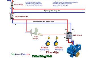 Sơ đồ mạch điều khiển máy bơm nước tự động