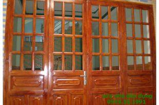 Làm cửa sắt giả gỗ tại tphcm
